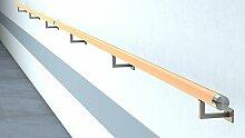 Buche Holz Handlauf Holzhandlauf V2A