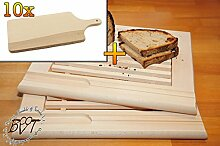 Buchen-Picknick Grill-Holzbrett mit Krümelfach ca. 24 mm Dicke natur 2 Stück, mit abgerundeten Kanten, Maße viereckig je ca. 36 cm x 29 cm & 10 mal Massiv-Picknick Grill-Holzbrett ca. 15 mm stark, Schneidebrett mit Holzgriff, mit abgerundeten Kanten, Maße viereckig ca. 35 cm x 16 cm als Bruschetta-Servierbrett, NEU Massive Schneidebretter, Frühstücksbretter, Brotzeitbretter, Steakteller schinkenbrett rustikal