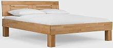 Buchenholz Bett massiv lackiert