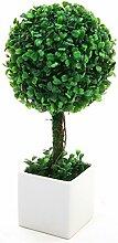Buchsbaumkugel,-künstliche Pflanze mit Topf