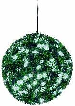 Buchsbaumkugel mit weißen LEDs, 40cm