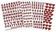 Buchstaben groß und klein - Zahlen und Herzen als