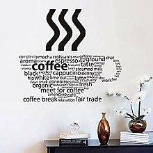Buchstaben Kaffee Wandaufkleber Kaffeetasse Shop