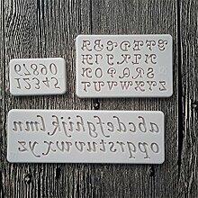 Buchstaben und Zahlen Silikon Form Fondant
