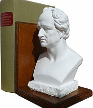 Buchstütze mit Goethe Büste medium, Höhe 19 cm,