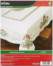 Bucilla Polyester Blend Prägung Kreuzstich Tischdecke 52x 178cm, viktorianisches Frieze