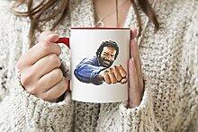 Bud Spencer Bulldozer Roter Griff Becher Kaffee