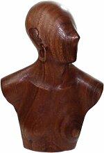 budawi® - Frauen-Büste mit Ohrring aus Holz,