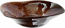 Budawi® - Glas-Schale braun Ø 29 cm