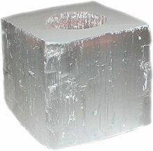 budawi® - Teelichthalter Selenit eckig weiß und