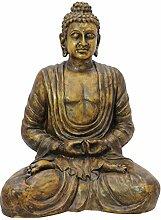 Buddha, antik-gold, 120cm