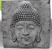 Buddha Bild Relief Wandbild hängend Steinguss