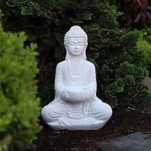 Buddha Deko-Figur Aus Stein Sitzend 30cm Skulptur