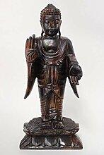 Buddha-Figur aus Holz Amoghasiddhi (50cm) mit