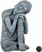 Buddha Figur geneigter Kopf, XL 60cm, Asia Deko,