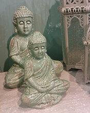 BUDDHA Figur im edlen Bali Style mit Antikfinish