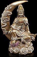 Buddha Figur im Halbmond - Kuan Yin - Deko Statue