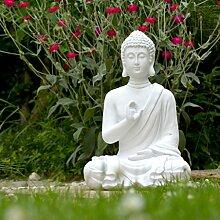 Buddha Figur Statue weiß 40cm Dekoration Wohnung