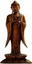 Buddha Figur, stehend h60cm Massivholz,
