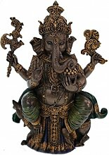 Buddha Ganesha auf Lotusthron Feng Shui Ganesh