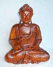 Buddha Holzfigur Statue Amoghasiddhi sitzend,