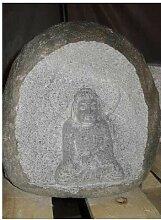 Buddha im Flußkiesel - Japanischer Garten Rokkaku