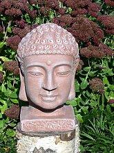 Buddha Kopf groß- Terrakotta, Garten, Deko,