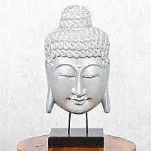 Buddha Maske KEPALA auf Standfuß Silver