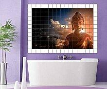 Buddha Meditation Fliesenaufkleber 10 15 20 25 cm