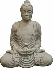 Buddha Meditation, Skulptur aus Steinguss, Figur