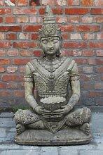Buddha mit Schale, wetterfestes Steinguss.
