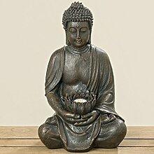 Buddha mit Solarlicht Gartenfigur beleuchtet (392100) Gartendeko Gartenfigur