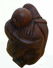 Buddha Mönch Yogi man Mann Holz Figur Meditation