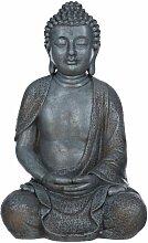 Buddha NF13106 Grau Buddha-Figur XL44cm Statue