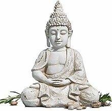 Buddha Outdoor beige gewischt frostfest Höhe 30