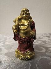 Buddha rot - gold, stehend