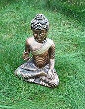 Buddha sitzend Figur Dekofigur kupfer Dekofigur