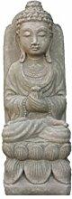 Buddha sitzt auf Lotus sockel , Figur aus Steinguss, Frostfest, Eine Figur, Gartendeko