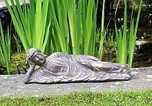 Buddha-Statue mit Bronze-Effekt, Gartendekoration,