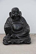 Buddha-Stein, schwarz, Höhe Statue