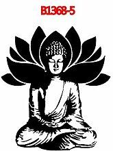 Buddha Zen Sakyamuni Statue Lotus Mandala