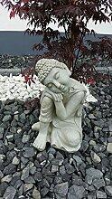 Buddhafigur Gartenfigur Gartenskulptur aus wetterfestem Magnesia