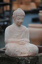 Buddhastatue,Terracotta,frostfest,44cm