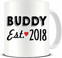 Buddy - Est. Keramik-Kaffeetasse 2018 – Familie