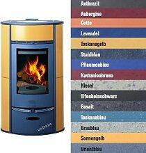 Buderus blueline Nr. 10 Kaminofen 8 kW Heizung Ofen, Farbe § Allgemein:Stahlblau