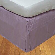 BudgetLinen 1PCs Box Plissee Bed Rock(Flieder ,