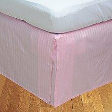 BudgetLinen Box Plissee Bed Rock ( Valance