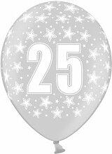 BUDILA® 30 grosse silberne Luftballons Stars mit