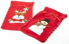 BUDILA® 4er-Set Weihnachtsbeutel Nikolaussack mit