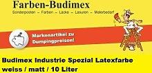 Budimex Industrie Spezial Latexfarbe, weiss / matt